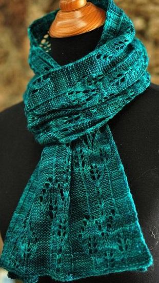 Схема ажурного шарфа