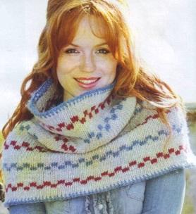 как связать шарф хомут спицами - Выкройки одежды для детей и взрослых.