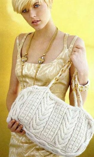 Как связать сумку спицами