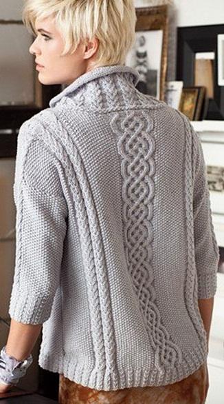 и описание свитера спицами