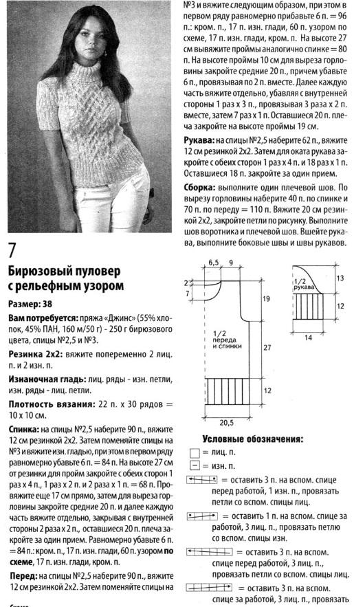 женский вязаный свитер схема вязания.