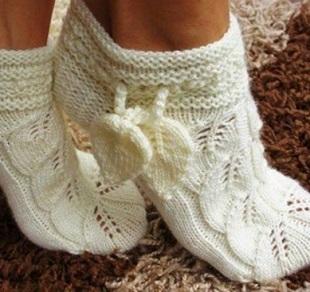 Носочки-тапочки спицами