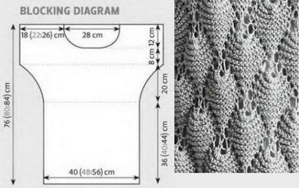 Вязание на спицах узоры для туник 933