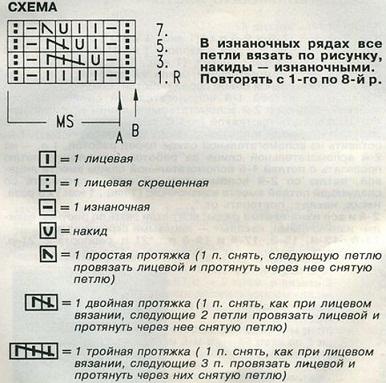 Схема узора взята из журнала.
