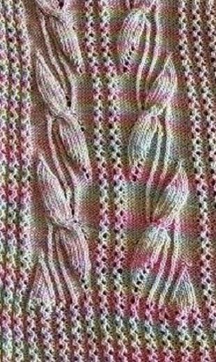 Схема вязания каймы спицами .