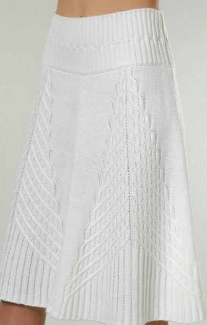 Рисунок вязание спицами для юбки