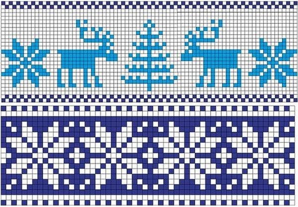 Скандинавские узоры схемы вышивка