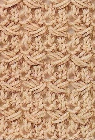 Схема вязания узора спицами.