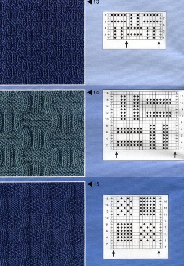 Схемы вязания спицами лицевыми и изнаночными 56