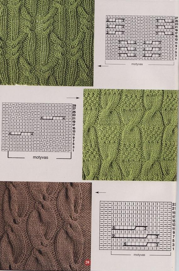 Схемы вязания узоров Косы