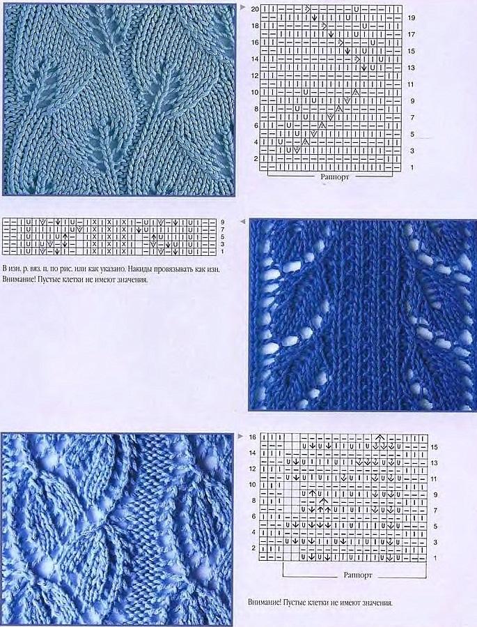 Узор для вязания спицами с описанием и схемами 423