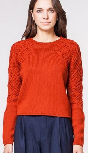 Геометрический узор для пуловера