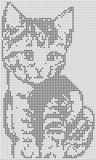 Схемы котов для вязания и вышивки