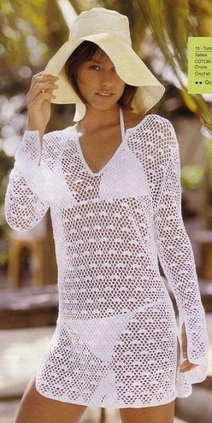 Playa ganchillo túnica